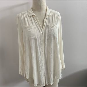 Calypso St. Barths Ivory Button Down Tunic